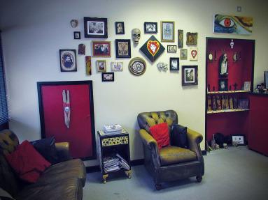 Tattoo Studio waiting room Cardiff